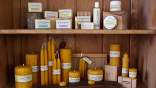 Soap & Candle from the Hive